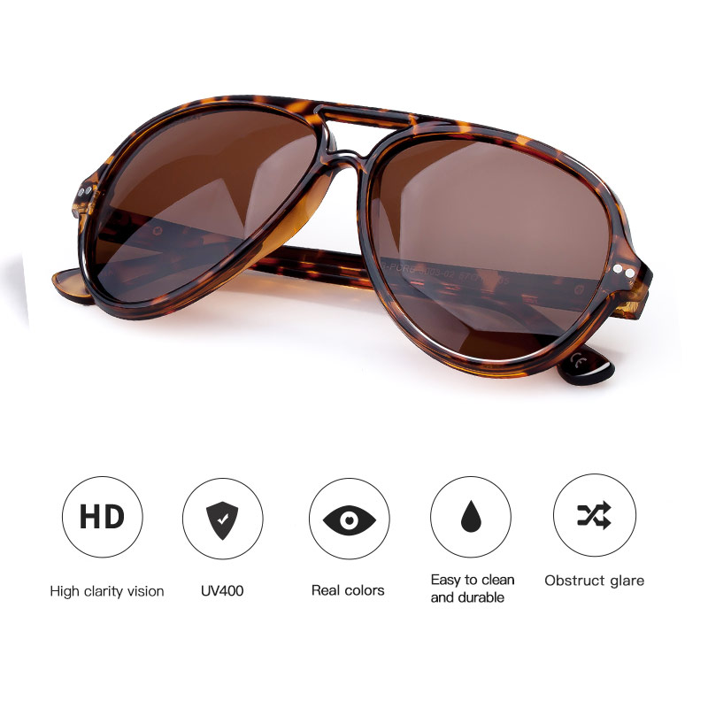 COLOSSEIN Gafas de sol Hombre Polarizado Retro Mujer Clásico Luz - Accesorios para la ropa - foto 3