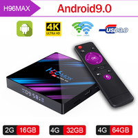 ТV BOX Android 9,0 H96 MAX 3318 TV BOX 2GB RAM 16GB ROM 2,4/5,0G WiFi Bluetooth 4,0 4 K 3D iptv Android box