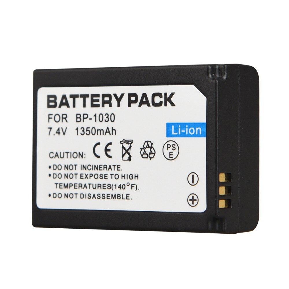 1 unid 1350 mAh BP-1030 BP1030 reemplazo Baterías para cámara para Samsung NX200 NX210 NX300 NX1000 NX1100 batería recargable digital