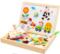 Multifunctional Educational Farm Jungle Animal Wooden Magnetic Puzzle Toys for Children Kids Jigsaw Baby's Drawing Easel Board
