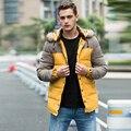 Men's new long cotton jacket Raccoon Fur Collar thicken winter coat men patchwork parka men high quality chaqueta hombre