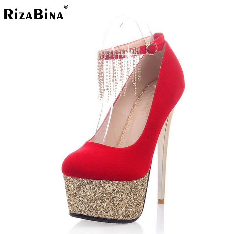 цена free shipping high heel shoes women sexy dress footwear fashion platform pumps P14805 EUR size 34-39