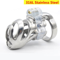 New 316L Stainless Steel Stealth Lock Standard Male Chastity Devices,Cock Cage,Penis Rings,Penis Lock,Chastity Belt,BDSM For Men