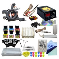 ANMAS RUCCI Professional Tattoo Rotary Pen Kits Large 6Color Ink Cartridge Needles Sets