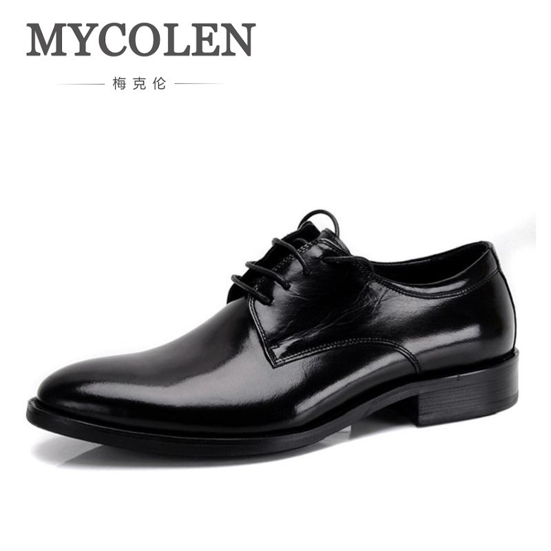 MYCOLEN Brand Pointed Toe Men Oxfords Formal Shoes Top Quality Leather Shoes Men Dress Shoes Men Wedding Shoes Drop Shipping mycolen mens shoes round toe dress glossy wedding shoes patent leather luxury brand oxfords shoes black business footwear