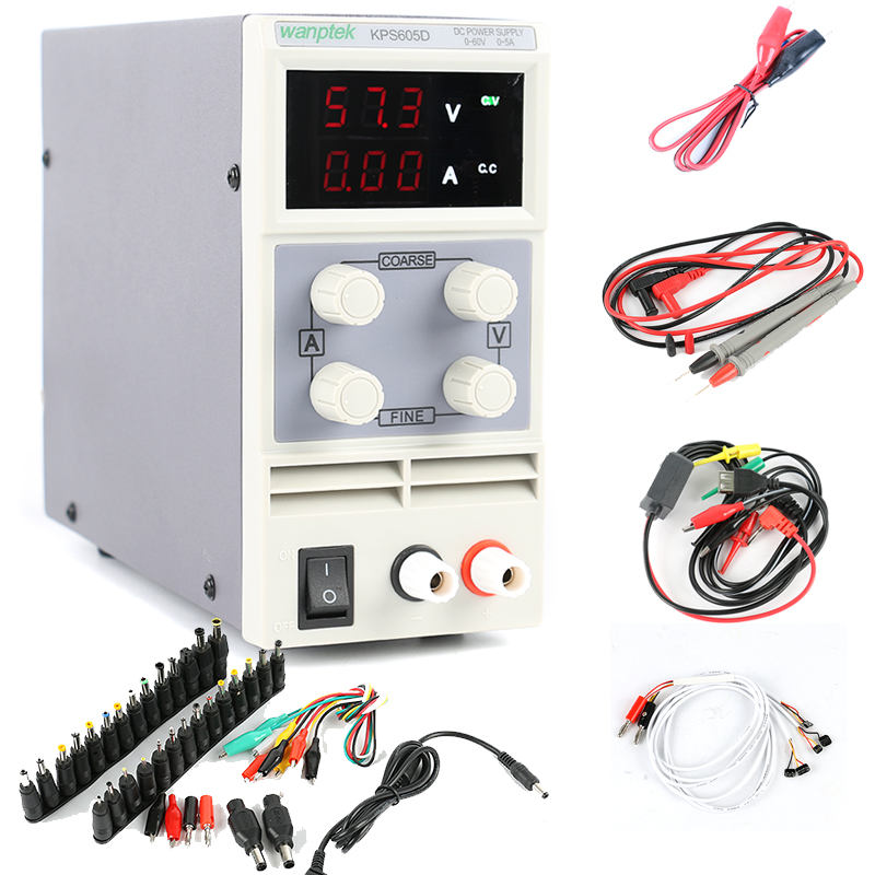KPS-605D Adjustable Digital DC Switching Power Supply 60V 5A Laboratory Power Supply For Phone Repair DC Jack Set 0.1V 0.01A cps 6011 60v 11a digital adjustable dc power supply laboratory power supply cps6011