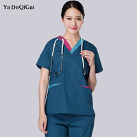 Hospital surgical clothing Meidcal scrub suit doctors nurse Isolation uniforms lab clothes suits medical scrubs uniforms women