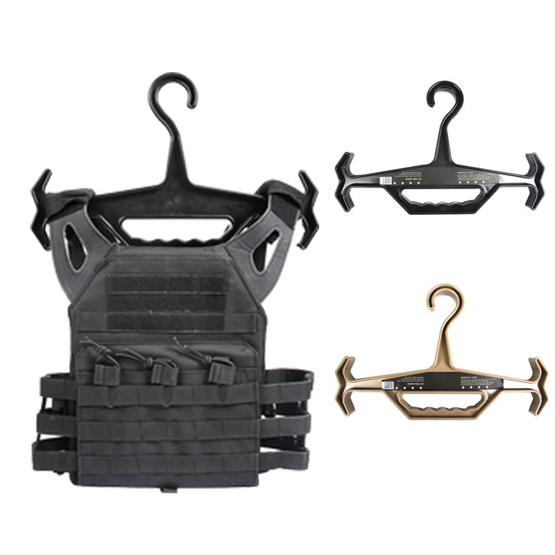 Hunting Accessory Heavy Duty Tactical Hangers Tactical Durability Hangers For Vests Plastic Non-slip Practical Durable Hangers