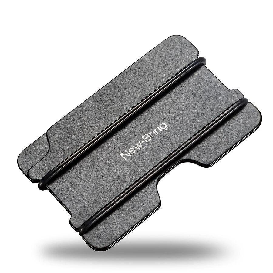 NewBring Fashion Metal ID Credit Card Holder Black Pocket Box ...