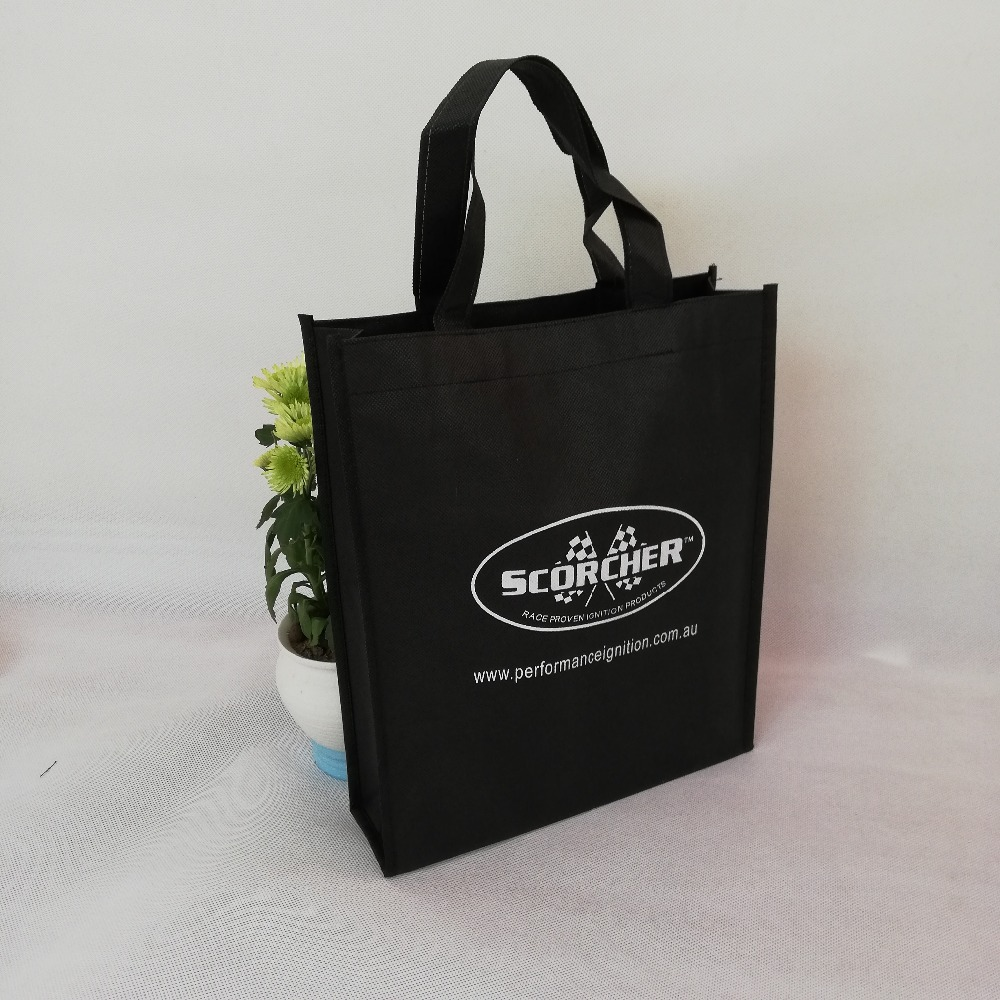100 Pcs/lot Custom Frauen Faltbare Einkaufstasche Reusable Eco Große Unisex Candy Farben Verfügbar Nicht-woven Schulter Lebensmittel Tasche Herausragende Eigenschaften