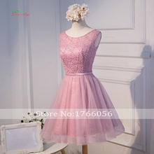 Dream Angel Elegant Beading Knee Length Homecoming Dresses 2017 Vintage Scoop Neck Lace Short Special Occasion Dress For Party