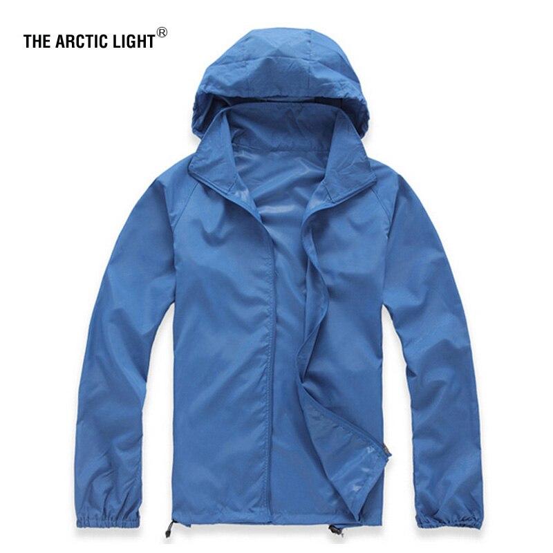 O arctic light outdoor men velocidade secagem uv vento escalada jaquetas casaco de pó de pele de verão de secagem rápida acampamento blusão