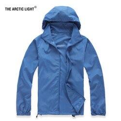 Arktyczne światło na zewnątrz mężczyźni prędkość suszenia UV wiatr wspinaczka kurtki letnie skóry prochowiec szybkoschnący Camping wiatrówka