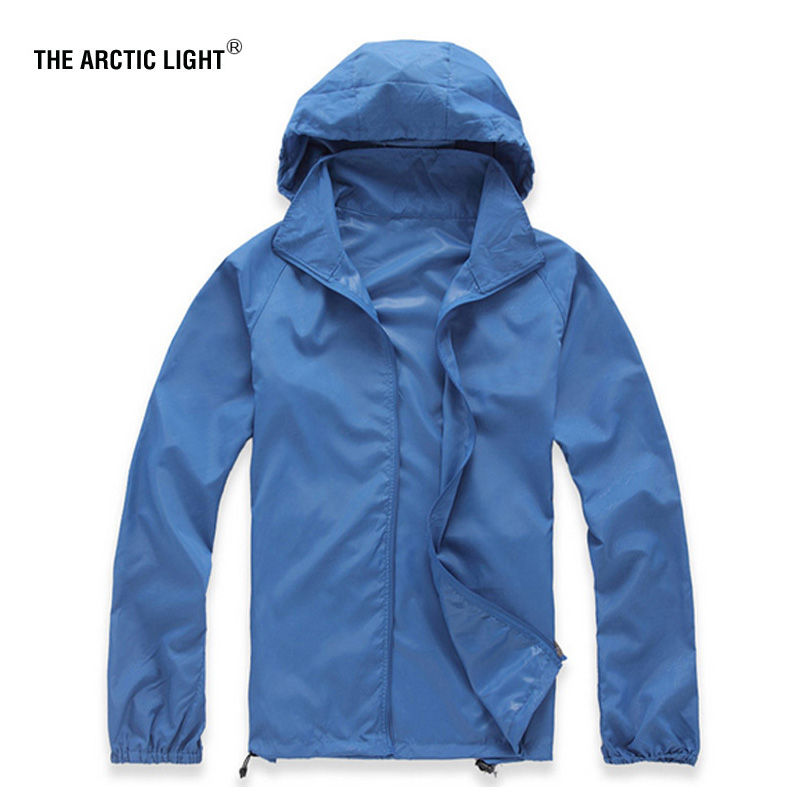 THE ARCTIC LIGHT Outdoor Men Speed Drying UV Wind Climbing Jackets Summer Skin Dust Coat Quick-drying Camping Windbreaker