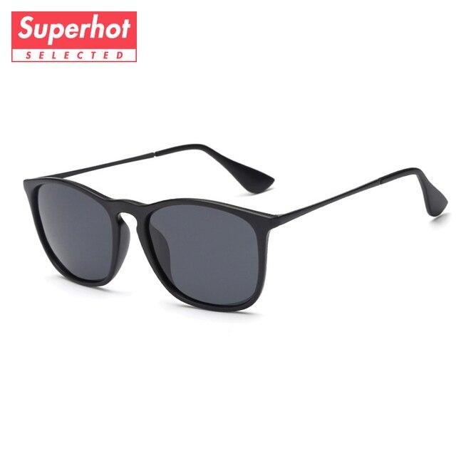 cdeeecf571c5 Superhot Eyewear - Classic Polarized Sunglasses Men Women Black Shades Sun  glasses TR90 Frame Mirrored TAC