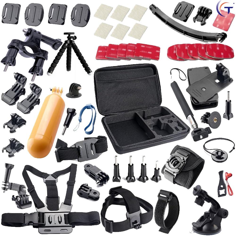 Free shipping Go pro accessory kit for gopro hero 5 4 SJ4000 SJ5000 xiaomi yi accessory sjcam accessories