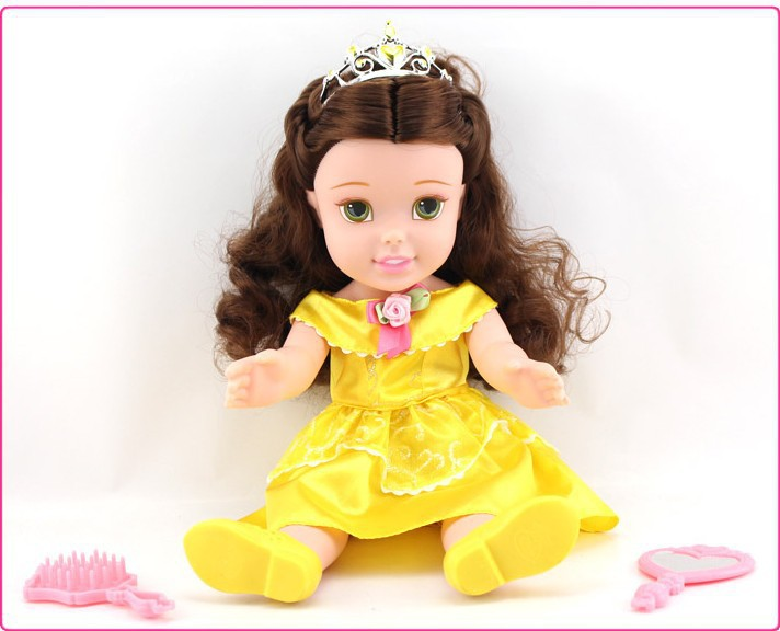 my first fairy tales princess toddler doll princess belle doll gift for girls baby toy 34cm. Black Bedroom Furniture Sets. Home Design Ideas