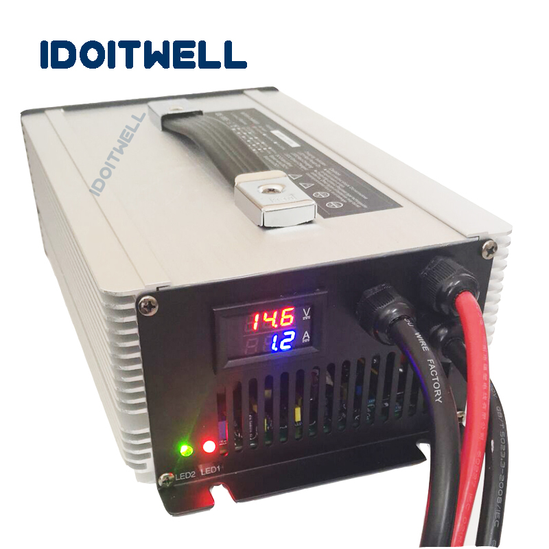 Customized led display 36V battery charger MAX 40A automatic charger lead acid lifepo4 lithium ion 36v forklift battery charger
