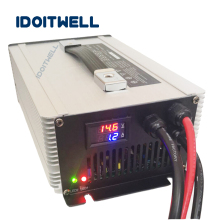 Customized led display 36V battery charger MAX 40A automatic charger lead acid lifepo4 lithium ion 36v forklift battery charger 43 8v 10a lifepo4 smart charger 36v 10a fast charger with fan used for 12s 36v lifepo4 lfp battery