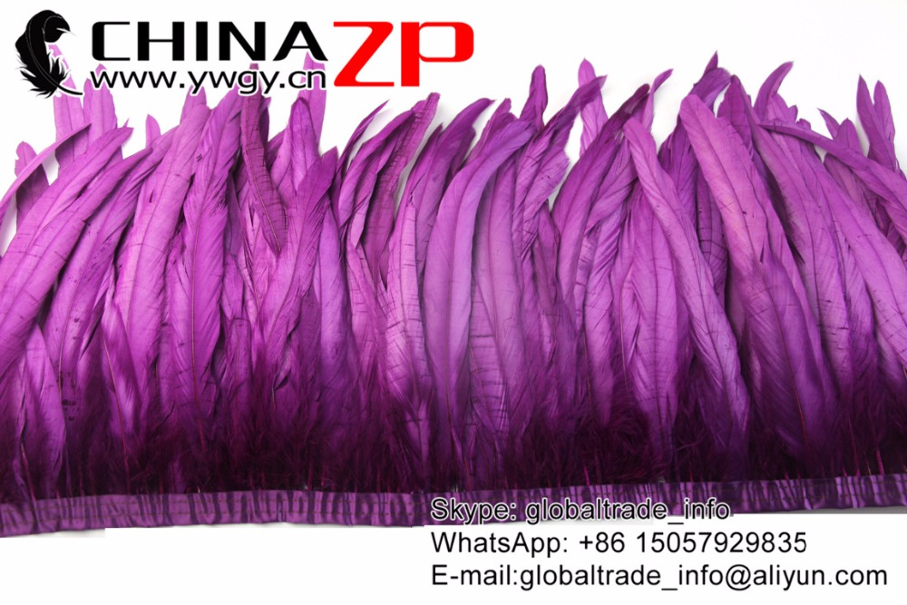 purple Rooster Tail Feather Fringe Trim (6)