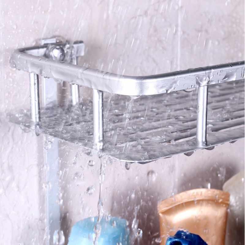 SAFEBET Spazio alluminio Marca Forte Aspirazione Doccia Mensola Cestino Bagno Di Stoccaggio Rack di Stoccaggio Asciugamano Lavatrice Doccia Shampoo