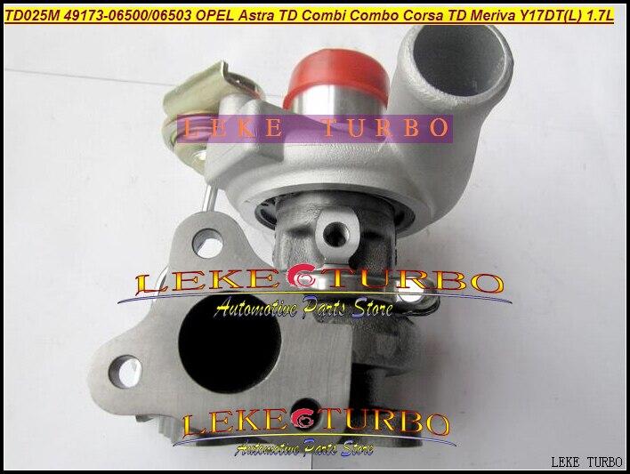 TD025 49173-06500 49173-06503 49173-06501 Turbo Turbocharger For OPEL Astra G H Combi Combo H Corsa C TD Meriva 1999- Y17DT 1.7L td025 49173 06500 98102367 turbo turbocharger for opel vauxhall astra g h corsa c combo h combi meriva 1999 y17dt 1 7l dti 80hp