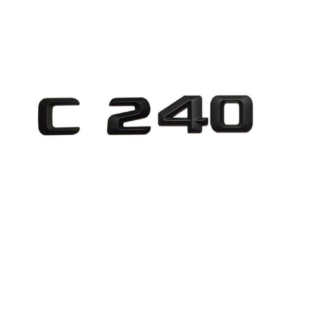 Chrome Number Letters Trunk Badge Emblem Sticker for Mercedes-Benz C Class C240