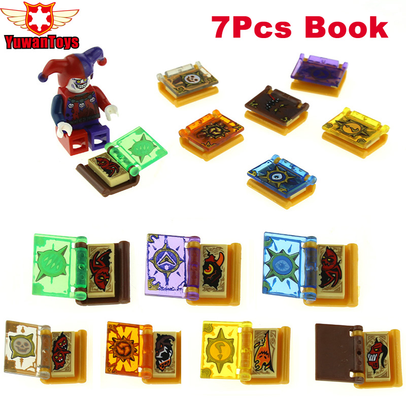 16Pcs/lot Hot Nexus Knights Jestro Magic Books Toys Building Blocks Mini Bricks Toys Figures For Children Gifts Clay Jestro Macy