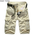 NIANJEEP  Brand Mutil Pockets Cargo Straight Shorts,Cotton High Quality Short Trousers,man's working resist wear shorts 60z