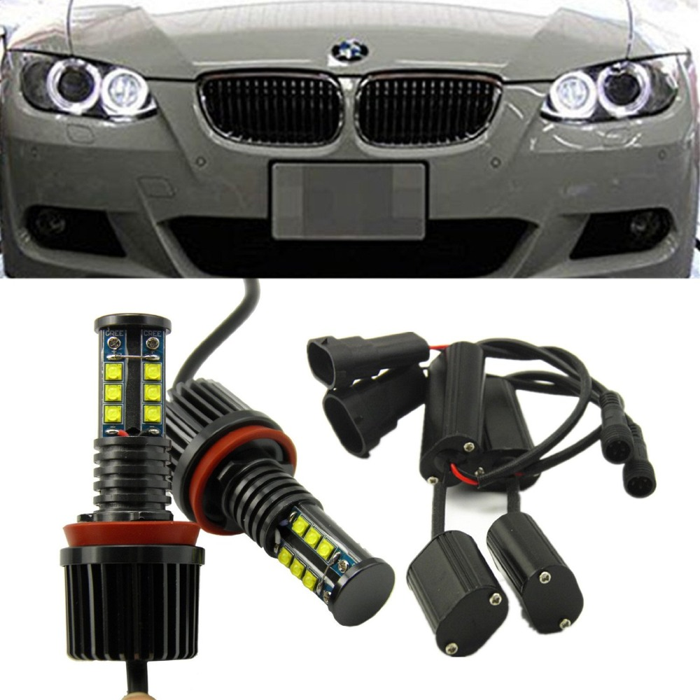 2x Utral-bright 120W CREE Chips H8 LED Angel Eyes Halo Ring Marker Light Bulbs Xenon White 6000K for BMW E70 E89 E90 no bulb out warning message 40w h8 led angel eyes halo ring marker light bulbs xenon white 6k for bmw e60 e90 e92 e70 x5 x6