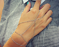 Women Fashion Jewelry Accessories Gold Silver Multilayer Slave Hand Chain Bracelet Finger Bracelets Harness For Girls BR040