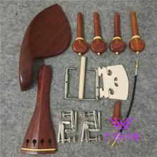 1 set new rosewood Violin parts 4/4, tailpiece, chinrest, pegs, endpin