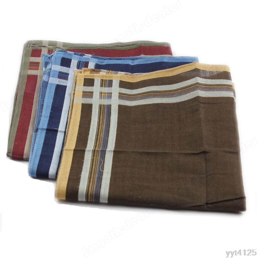 New High Quality Classic Soft Comfort Plaid Handkerchief