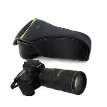 แบบพกพากระเป๋ากล้องสำหรับ Nikon D600 D610 D800 D810 D850 D750 D700 D300 70 200 มิลลิเมตร 80 400 ป้องกันกระเป๋านุ่มกระเป๋าด้านใน
