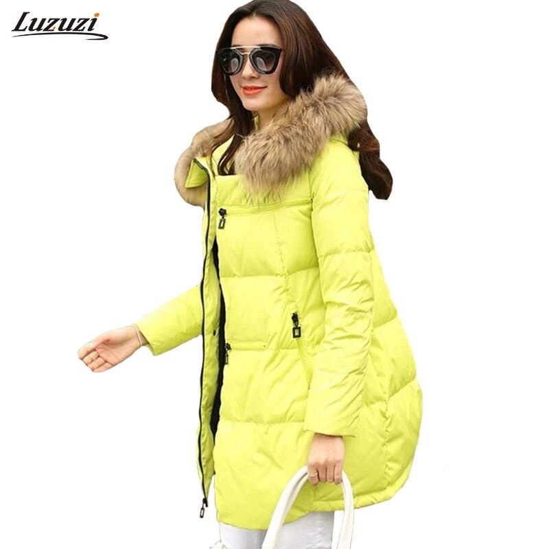 1 шт. зимняя куртка Для женщин Зимние куртки feminino теплая хлопковая парка с капюшоном для Для женщин зимнее пальто Chaquetas Mujer Z006