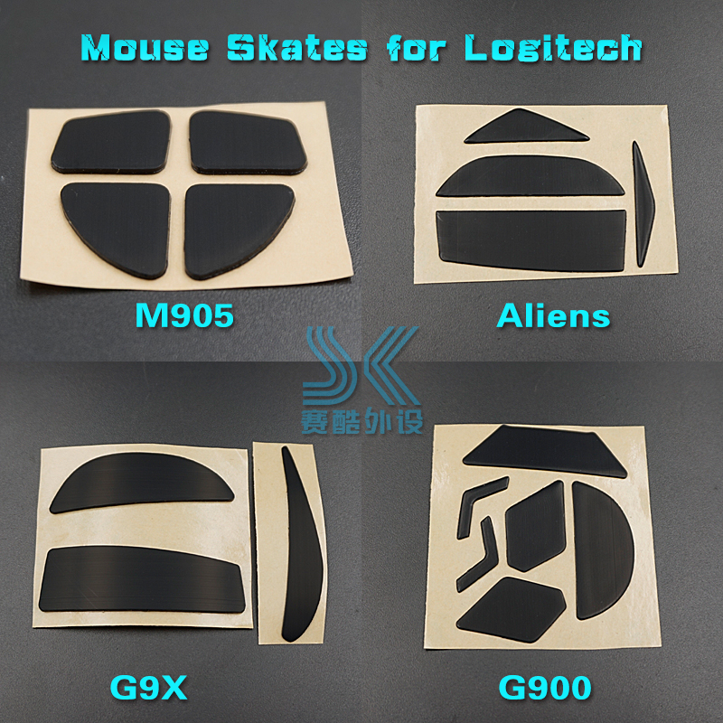 Teflon 3M Mouse Feet Skates Mouse For Logitech G900 G903 G9 G9X M950 Alens Anywhere M905 Gaming Mouse 0.6MM Replacement