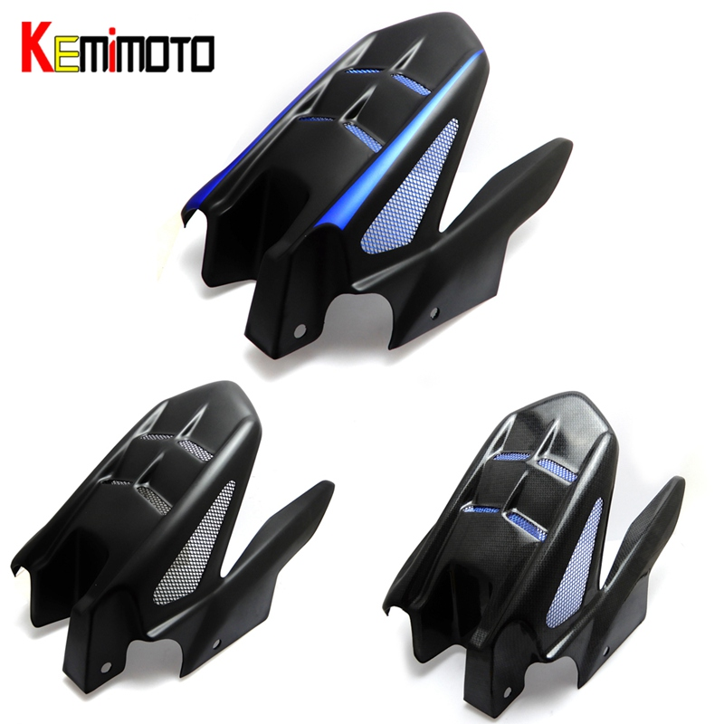 KEMiMOTO Rear Fender Cover MT07 FZ07 ABS &Aluminum Mudguard with Mounting Bracket for YAMAHA MT-07 FZ-07 MT 07 2014-2016 for yamaha mt 07 mt 07 fz07 mt07 2014 2015 2016 accessories coolant recovery tank shielding cover high quality cnc aluminum