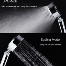 Shower Head Double-Sided Spray Pressurization Washable Hand-Held Water Saving Bathroom Accessory