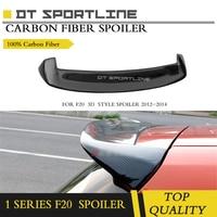 Rear Roof Spoiler Window Wing Lip For BMW F20 2012 2014 F21 118i 120i M135i M140i Spoiler 3D Carbon Fiber / FRP Rear Spoiler