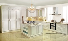 PVC/vinyl kitchen cabinet(LH-PV054)