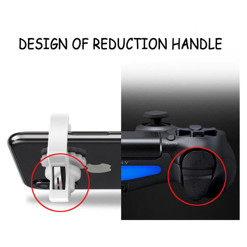 1Pair PUBG Controllers Portable Gamepad Mobile Gaming Controller For PUBG Mobile Aim Keys L1 R1 Shooter Trigger Gaming in Gamepads from Consumer Electronics