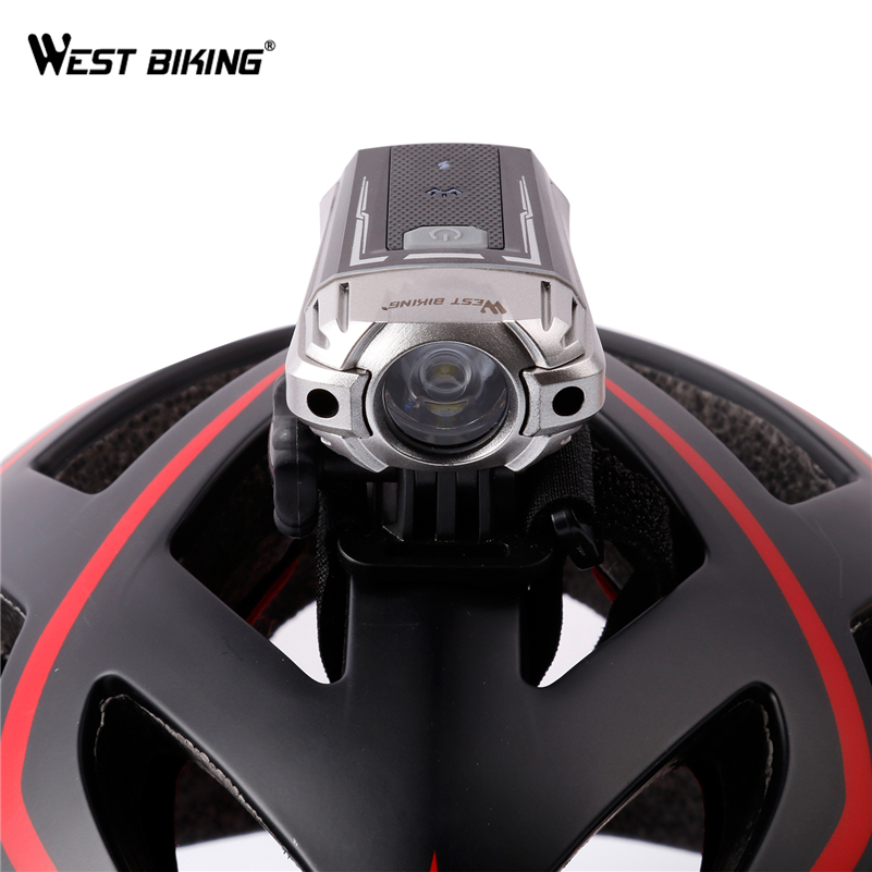 WEST BIKING Bicycle Light USB Rechargeable Headlight CREE LED Helmet Night Lighting Safety Handlebar Front Flashing Bike Light