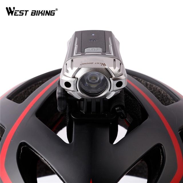 WEST BIKING Bicycle Light USB Rechargeable Headlight CREE LED Helmet Night Lighting Safety Handlebar Front Flashing Bike Light