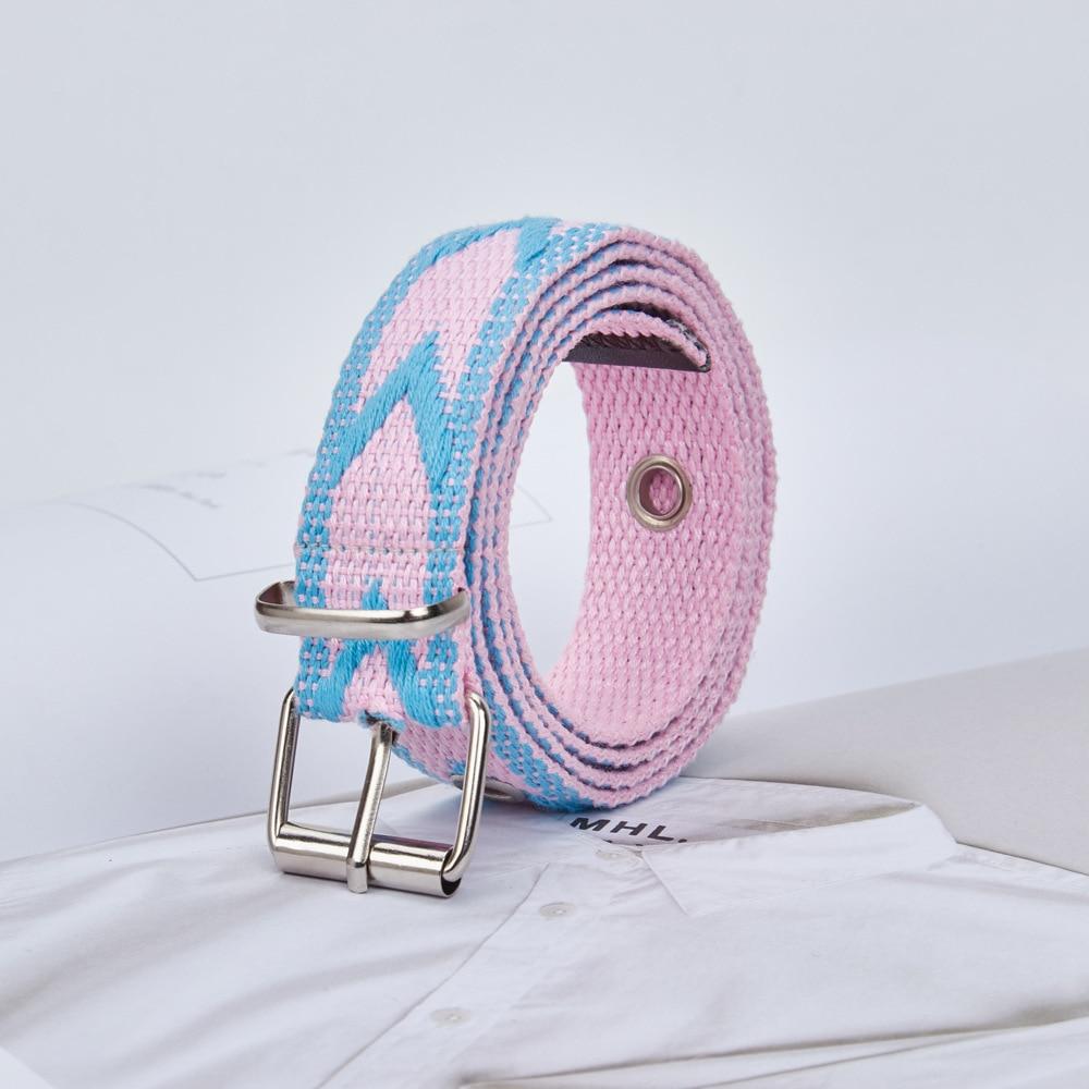 Ceinture pour femme, aiguille, ceinture en toile, ceinture en cuir simple et fin, multicolore.