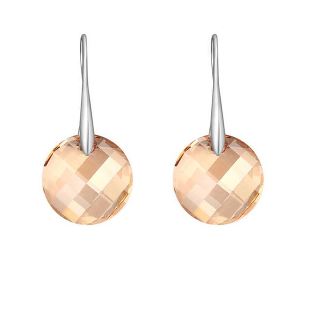 Cristal de Swarovski Clássico Jogo Fácil de Jóias Moda Feminina Casual Dangle Gota Brincos Joyas Feito com Swarovski Elemento