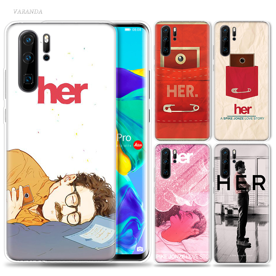 Her 2013 Movie Case for Huawei P20 P30 P Smart Z Plus 2019 P10 P9 P8 Mate 10 20 lite Pro Silicone Fundas Capa Phone Bags Capa image