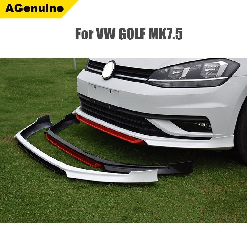 Primer ABT Style MK7.5 Auto Front Chin Cover Car Front Bumper Lip Front Lip Spoiler For Volkswagen/VW Golf VII Mk7.5 2017+