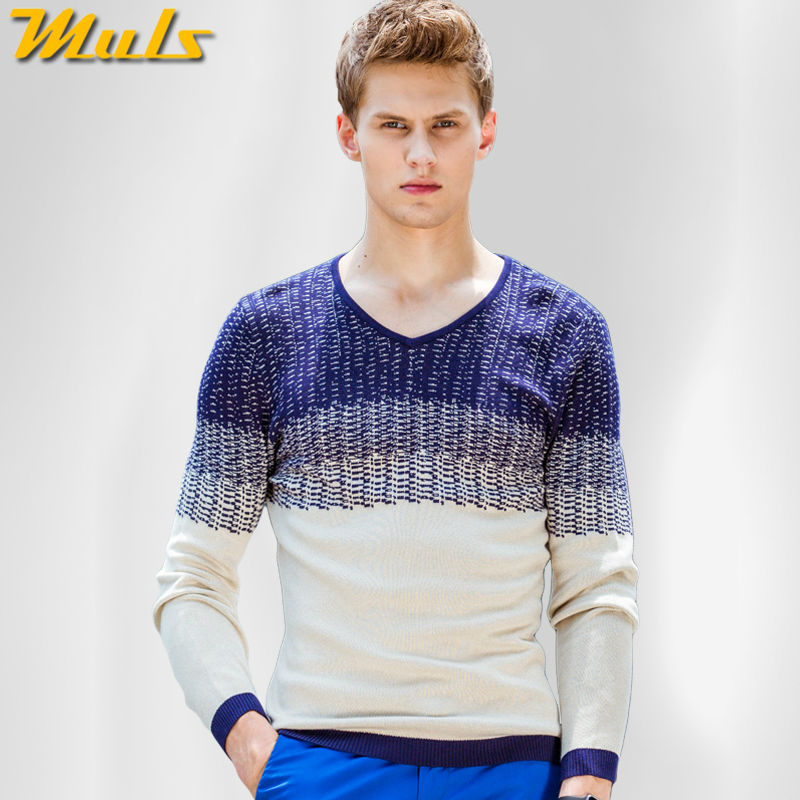 Inglaterra estilo hombres suéter Patchwork patrón jumper hombre ...