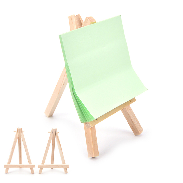 1Pcs Mini Wooden Art Holder Artwork Display Table Top Easels Drawing Boards  12*6cm