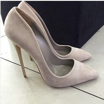 Leder 2015 Sexy Mode Schuhe Bürodame Silber Formelle Frau Grau Stiletto Spitz High Kleidung Wildleder Heels Etoupe Neue q8ESwqZ
